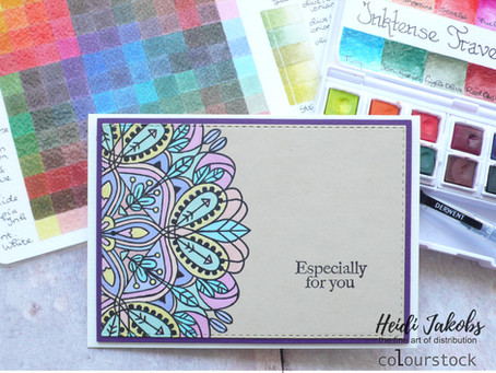 Pastel coloured Inktense card
