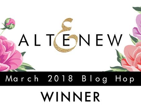 Altenew March Blog Hop Winner!