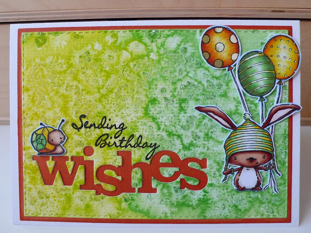 Purple Onion Designs Garden Bug Birch Balloon Trio Winnie and Walter Wishes die LOTV Handwritten Phrases
