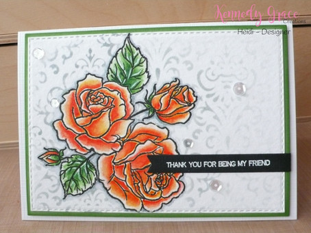 Almost one layer card with Roses