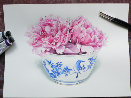 Anna Mason: Peonies in Bowl