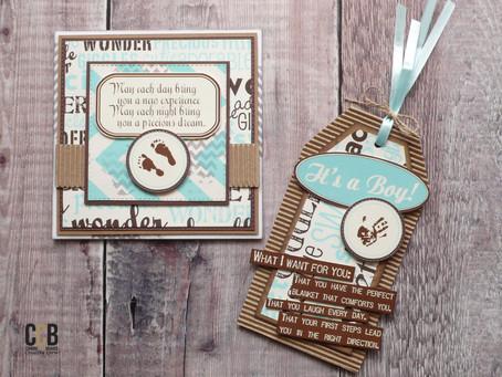 Baby Boy Card & Gift Tag