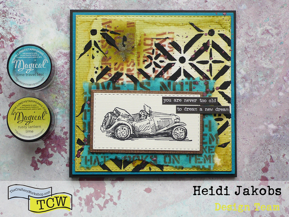 TCW Stencils #tcwstencillove Lindy's Stamp Gang Magical