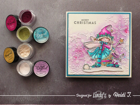 Creating a Christmas Card using Lindy's