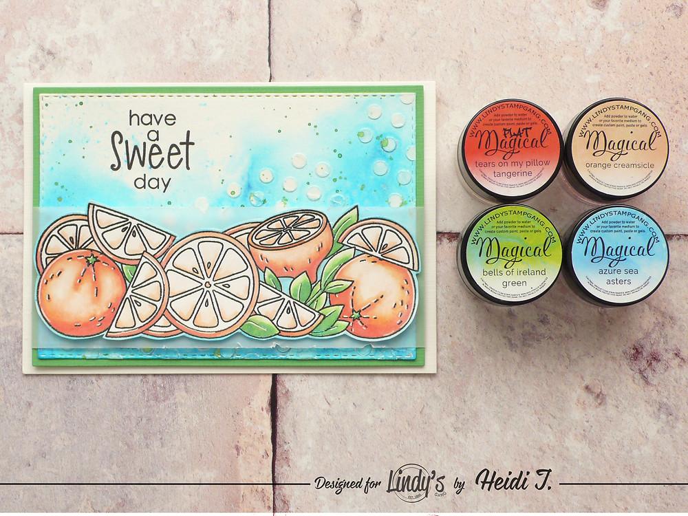 Lindys Stamp Gang Color Challenge Studio Katia Citrus Trimmings