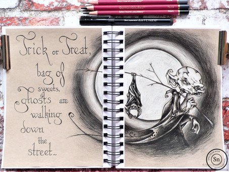 Art Journal Page: Halloween