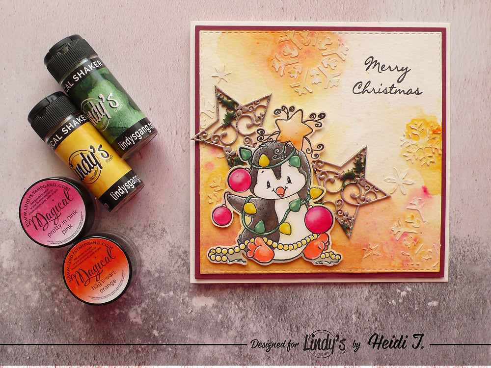 Lindy's Stamp Gang Whimsy Stamps Penguin Christmas Tree