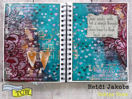 Art Journal Page: Two Hearts