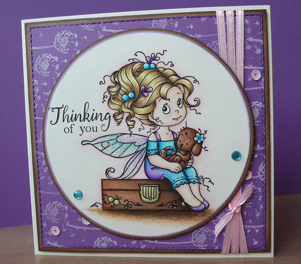 whimsy stamps hope friendly flowers faber castell polychromos holbein pastel tone set stickles star dust