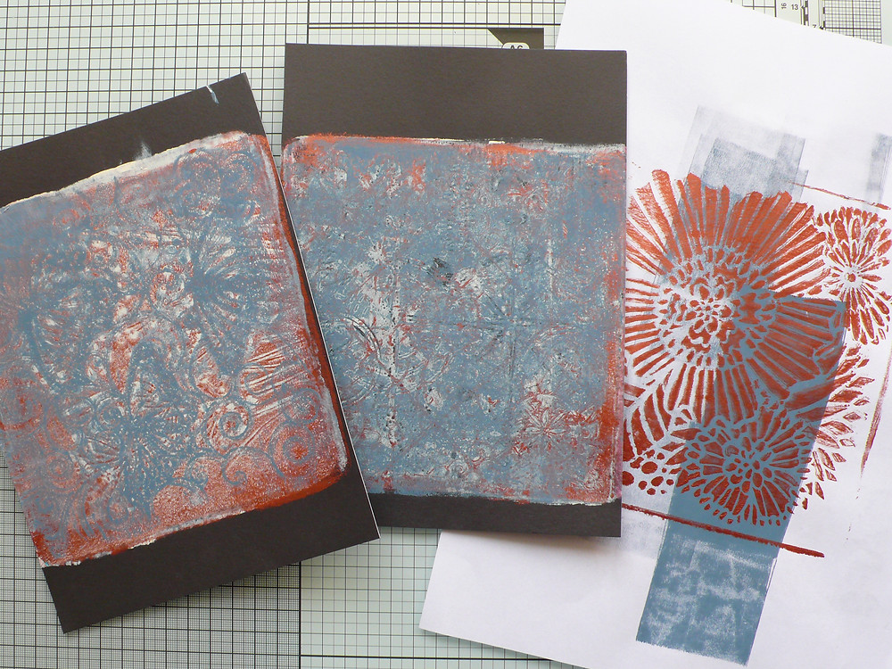 Gel Press prints