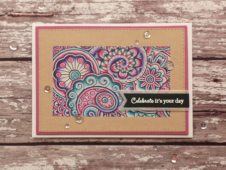Hello Color Doodle Card