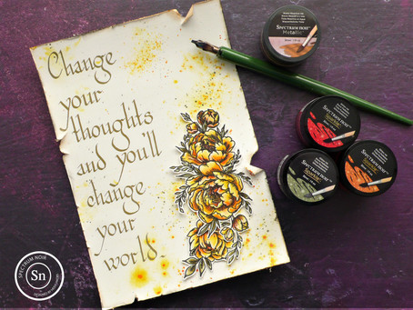 Art Journal Page: Change your Thoughts