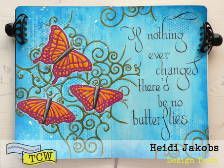 Art Journal Page: Butterfly