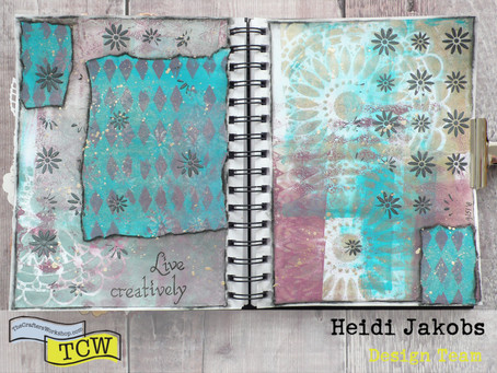 Art Journal Page: Live Creatively