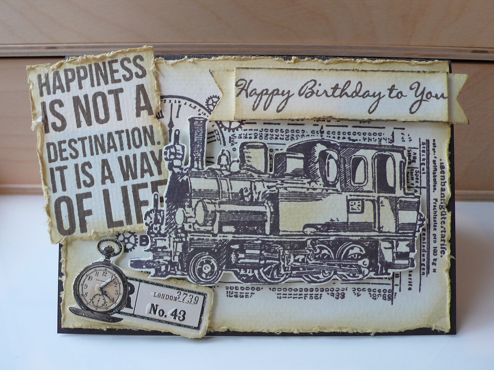 handmade card vintage retro card for men viva decor oldtimer kaisercraft life LOTV sentiment