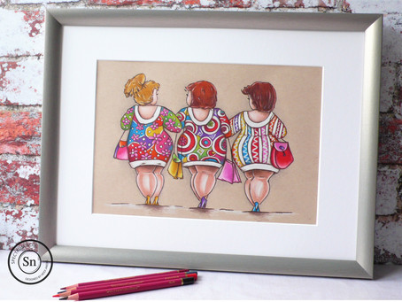 Home Decor Project:  Shopping Ladies
