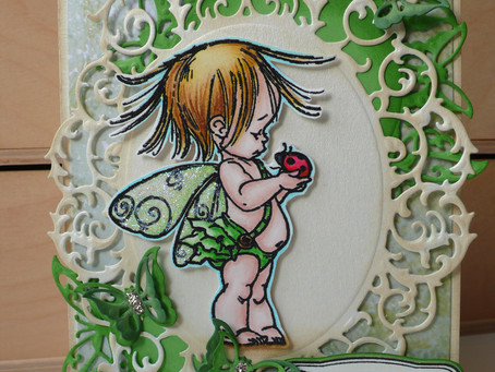 Whimsical card with Penny Black