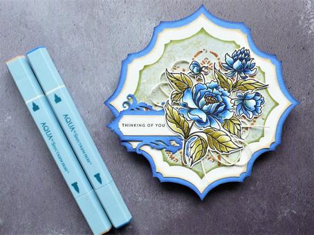 Flowery Shape Art Card