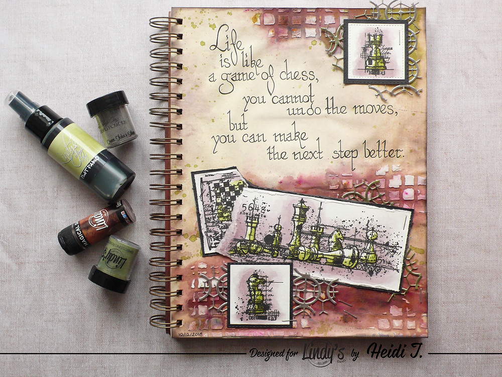 Lindy's Stamp Gang January 2019 Color Challenge