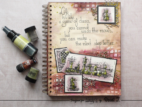 Art Journal Page: Life is like a Game of Chess