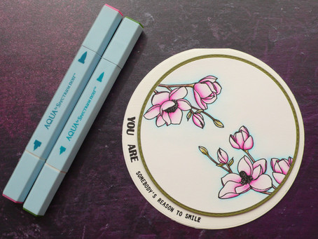 Easy Magnolia Card with Spectrum Noir