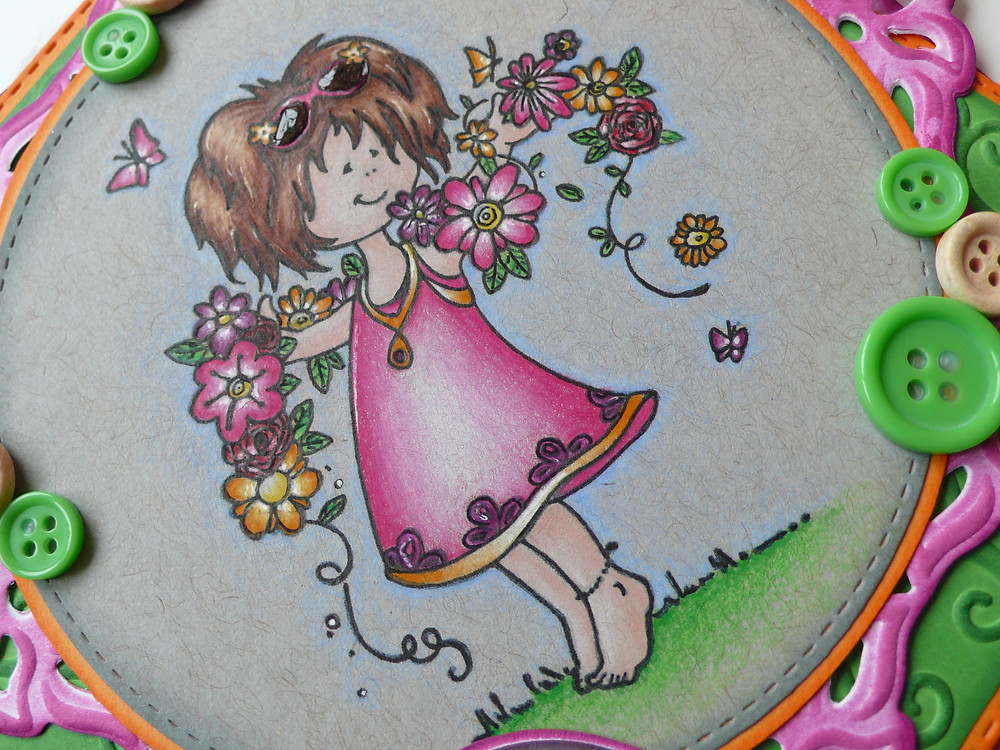 Snoesje Marianne Design Wild Rose Studio Birthday Circles Faber Castell Polychromos