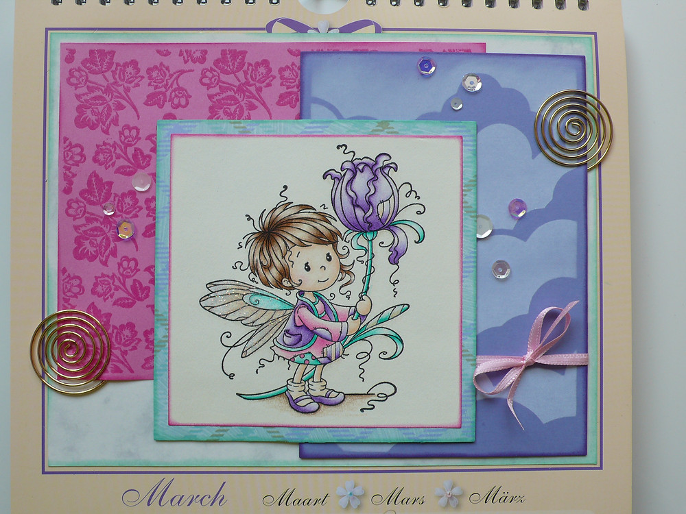 Whimsy stamps Maya Bruynzeel coloured pencils hero arts Etched Bouquet