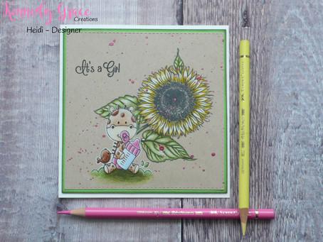 Flower Baby Card