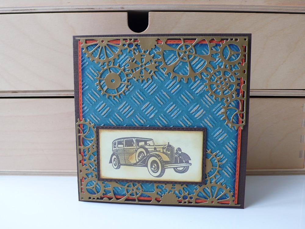 Scrapberry's auto vintage Memory box Steampunk corner
