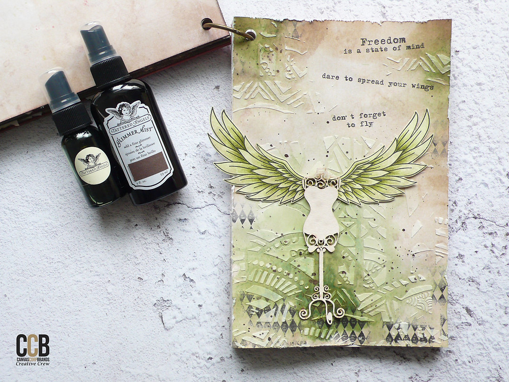 Studio Light wings, Tatterend Angels mists, wings on wednesday
