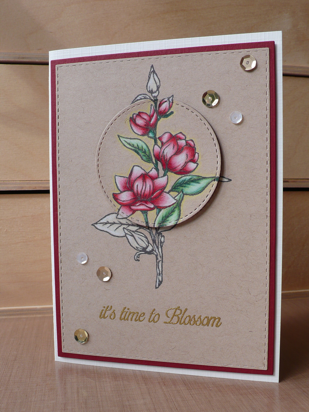 Kennedy Grace Creations Time to Blossom Faber Castell Polychromos