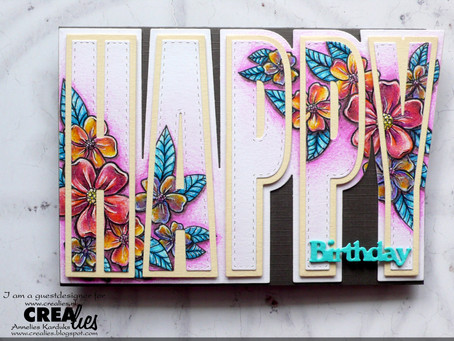 Crealies: Happy Flowers card project