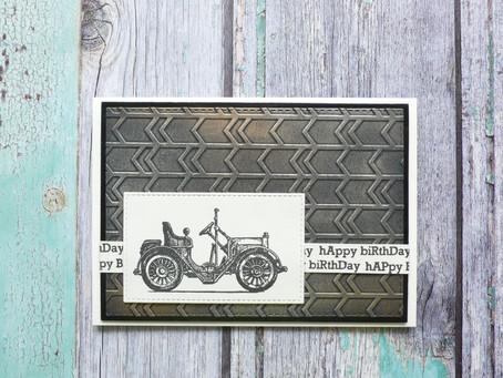 Vintage Birthday Card using Gilding Wax