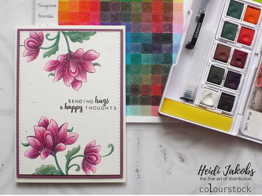 Derwent Inktense Paint Pan Travel Set #02 with Altenew stamps