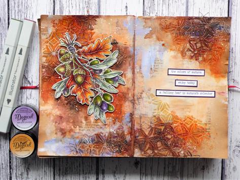 """#HVHerfstchallenge2020 Challenge 2 (Autumnchallenge: week 2): """"orange/brown hues and leaves"""""""