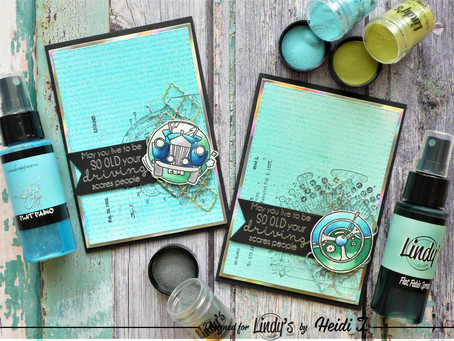 Layered masculine cards with Lindy's