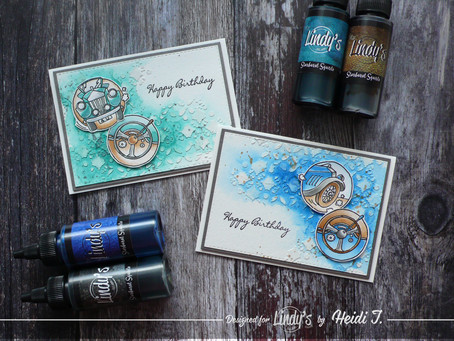 Masculine Birthday Cards using Lindy's Squirts