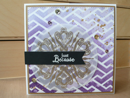 Creative Expressions vellum overlay card