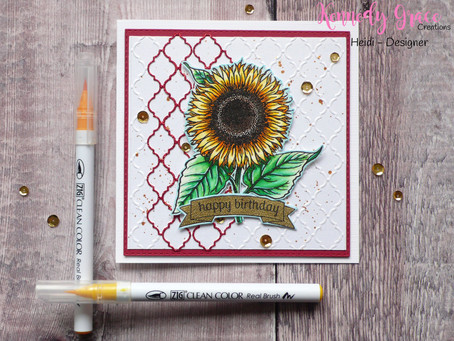 Lacy Sunflower Card
