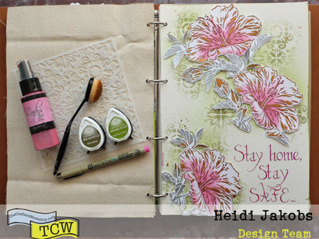 Art Journal Page: Stay Safe!