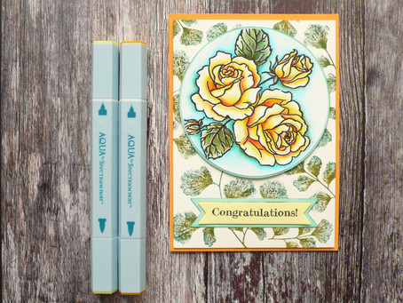 SN Roses Card with fun Background Design