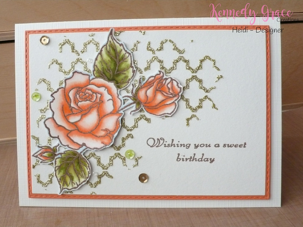 Kennedy Grace Creations Splendid Roses Zig Clean Color Real Brush Markers