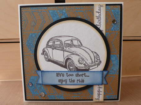 Beetle Birthday Card