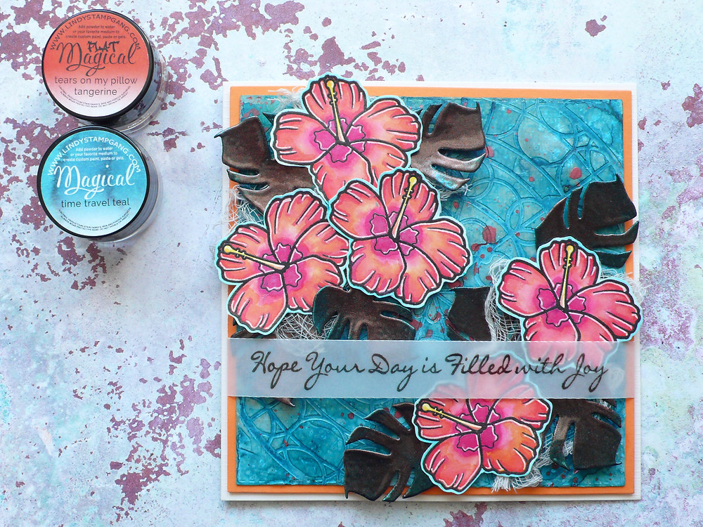Create a Smile Aloha Spirit Lindy's Stamp Gang Magicals