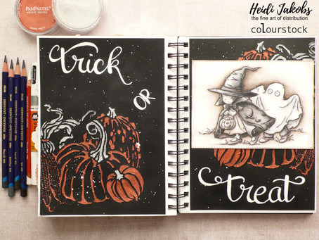 Art Journal Page: Trick or Treat