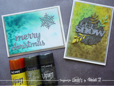 Non-traditional coloured LSG Christmas cards