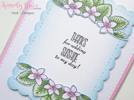 Elegant Kennedy Grace Creations Card