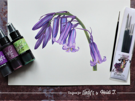 Advanced watercolor project with Lindy's