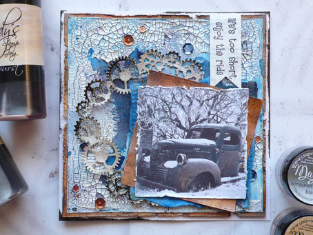 Masculine Mixed Media Card