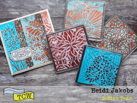 Gel Press Coaster Gift Set